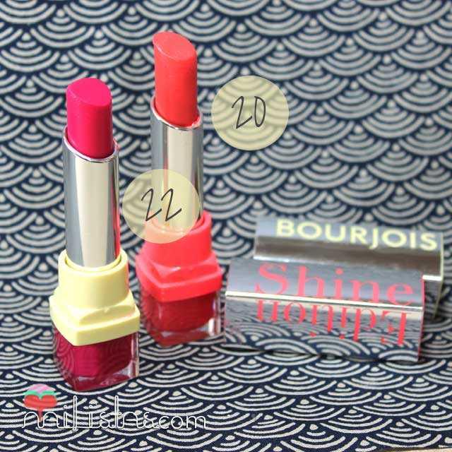 Bourjois Shine Edition 1,2,3 Soleil y Fuchsia Famous