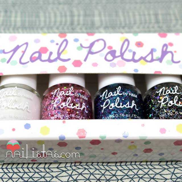 Esmaltes de uñas H&M Glitter Nail Polish pack de 4 esmaltes