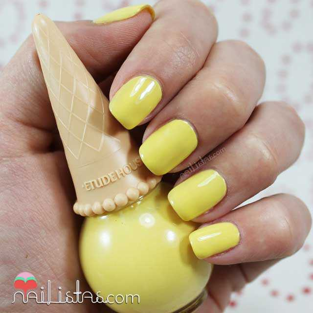 Etude House Nail Polish Ice Cream Banana be101 Swatch