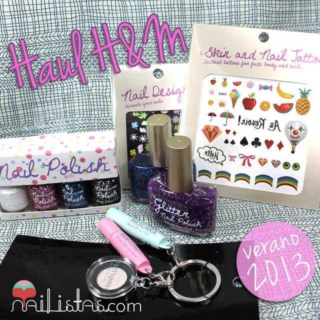 Haul compras H&M Verano 2013, nail art y esmaltes de uñas
