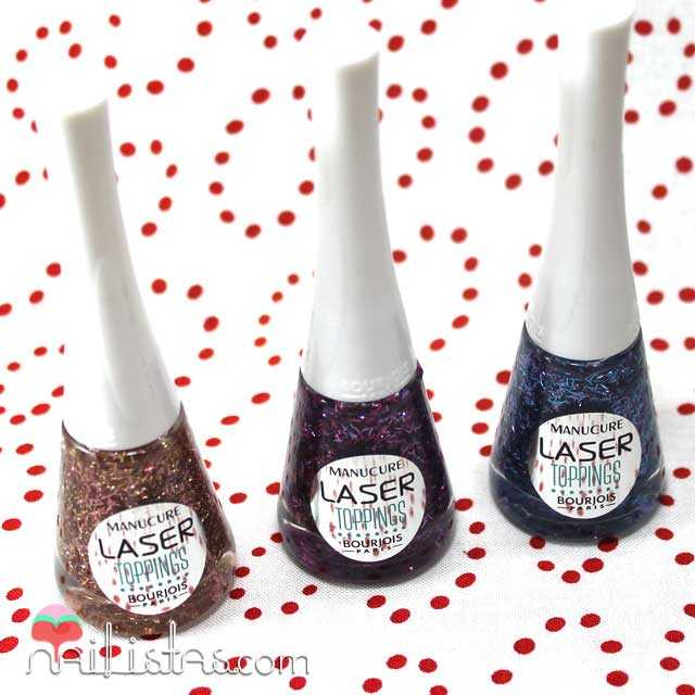 Sun Scales, Blue Neon y Aquea Purple, Laser toppings de Bourjois
