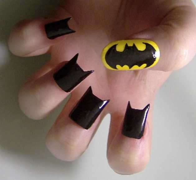 Nail Art de Batman