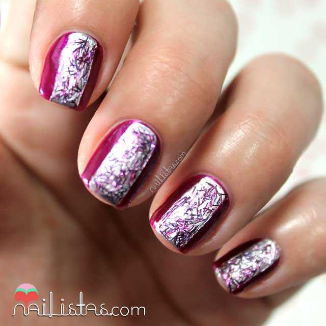 Swatch de Purple Aqua Laser Toppings de Bourjois