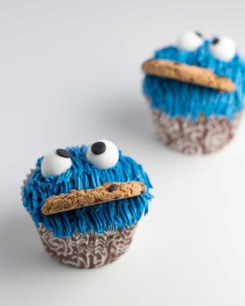 Cupcakes del monstruo de las galletas | Magdalenas