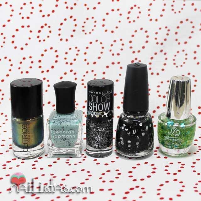 Esmaltes de uñas especiales y con purpurina