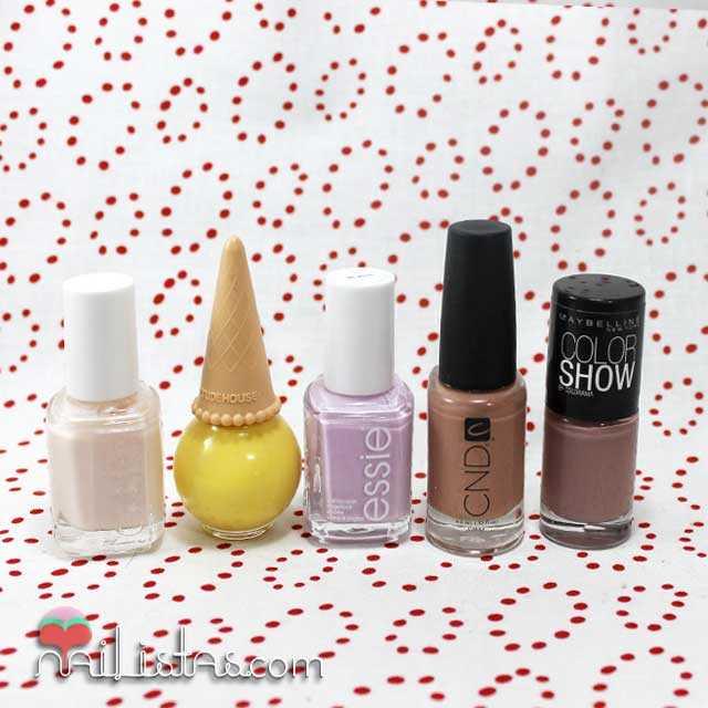 Esmaltes de uñas pastel y neutros