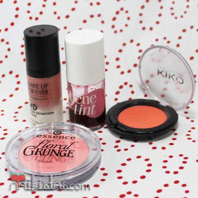 Coloretes de Essence, Benefit, Kiko y Makeup Forever