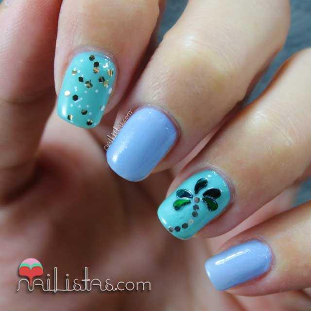Uñas decoradas con palmeras | Nail art con glequins