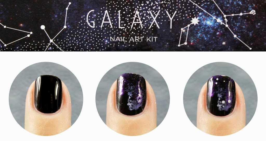 Uñas de Galaxias o Galaxy nails paso a paso