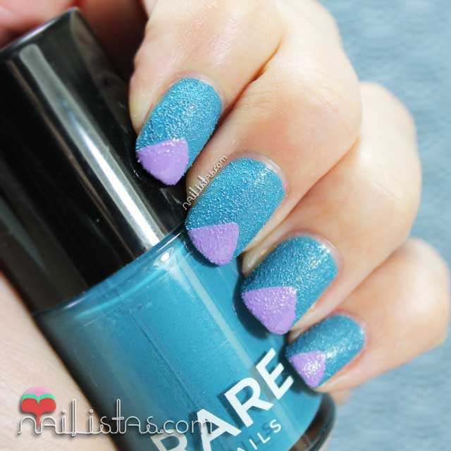 Diseños de uñas fáciles para esmaltes con textura