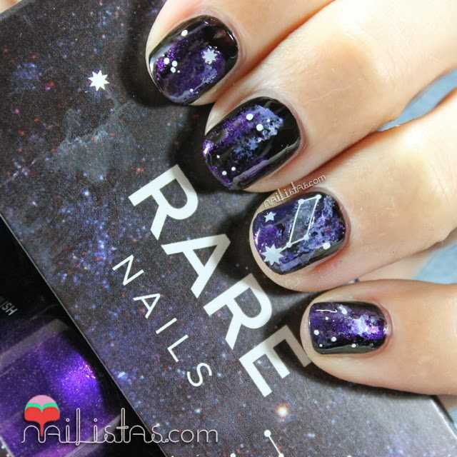 Uñas decoradas con Galaxias | RARE Nails Galaxy Nail art Kit
