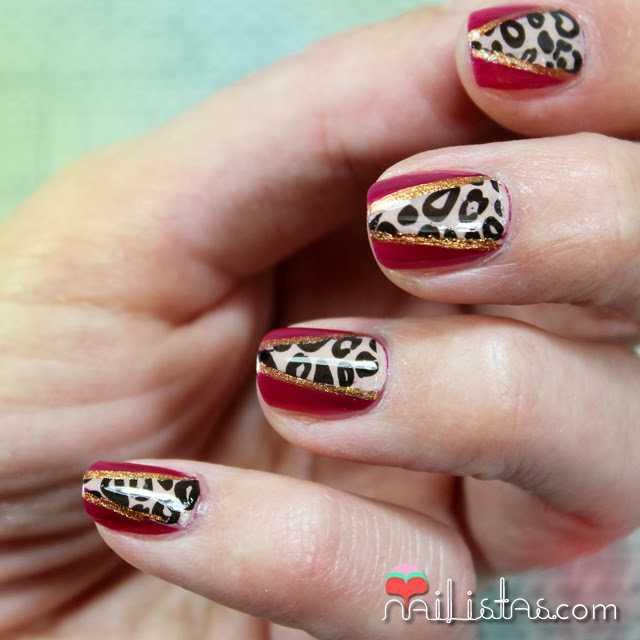 Nail art de leopardo y animal print en las uñas