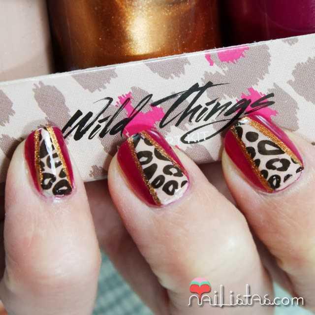 Decoración de uñas de leopardo