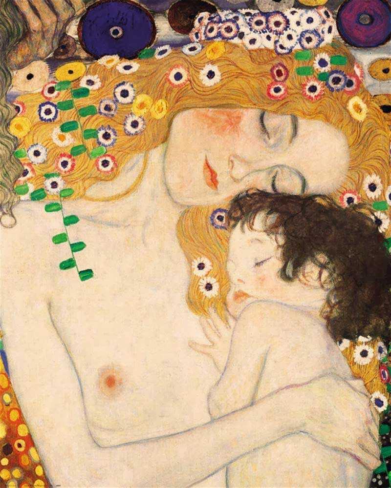 Madre e hija, detalle del cuadro Las tres edades de la mujer de Gustav Klimt