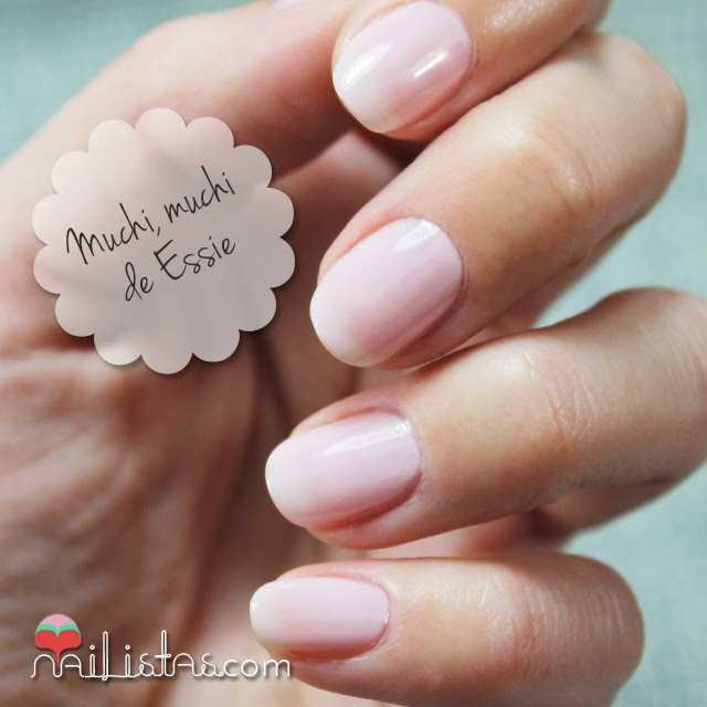 Manicura en rosa nude | Muchi, muchi de Essie | Swatch