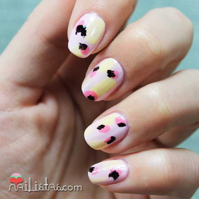 Diseño de uñas fácil | Patrón en rosa