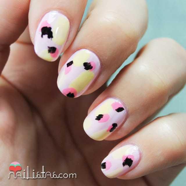Diseño de uñas fácil | Nail art en rosa