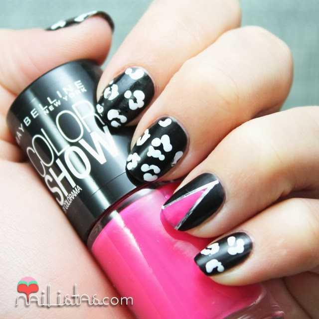 Uñas decoradas con estampado de leopardo | animal print nail art