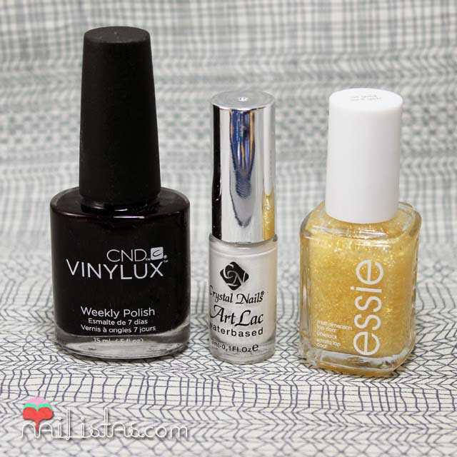 Crystal Nails Art lac, CND Vinlyk¡lux, essie Luxxefects