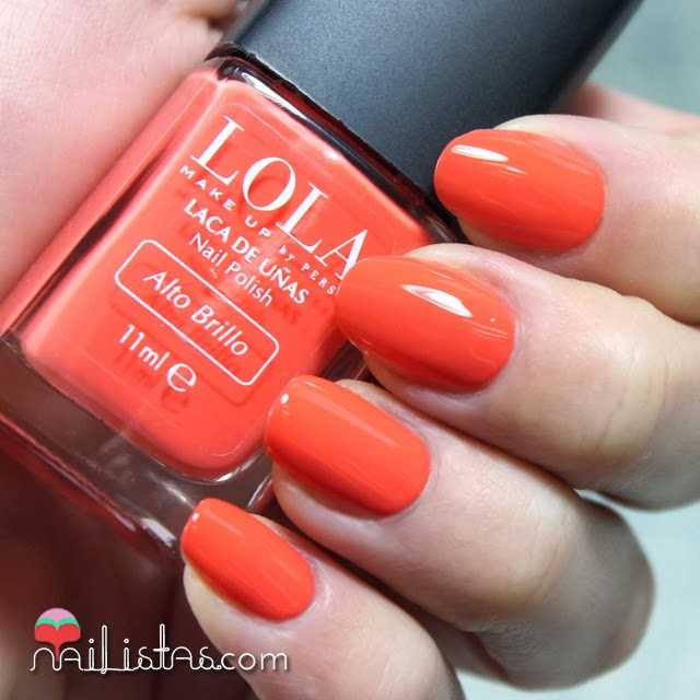 esmaltes de uñas Lola Make Up Tangerine Dream