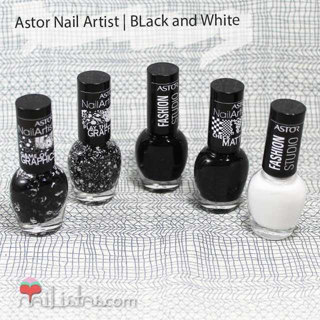 Esmaltes Astor | Colección Black & White | Nail Artist Graffiti