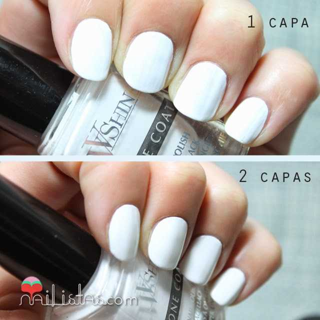 Esmalte de uñas blanco perfecto cubriente