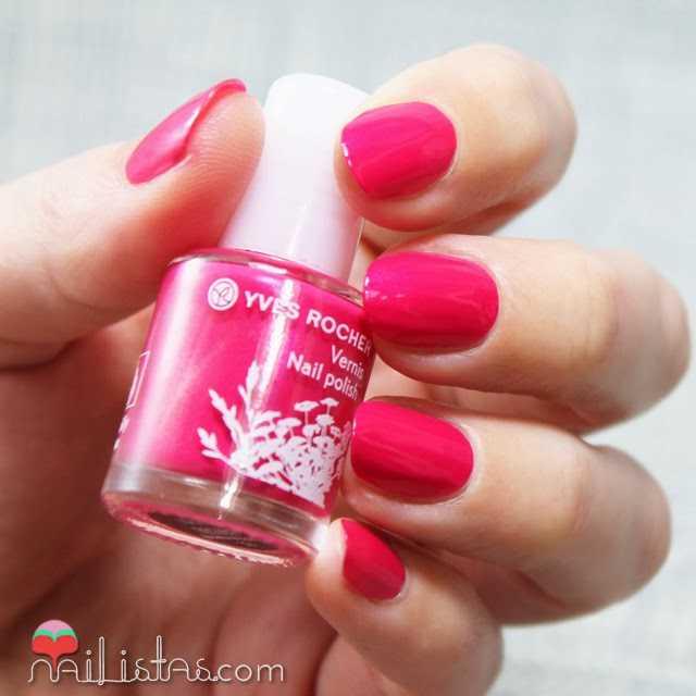 Esmaltes de uñas Ives Rocher rosa Fucsia Nacré