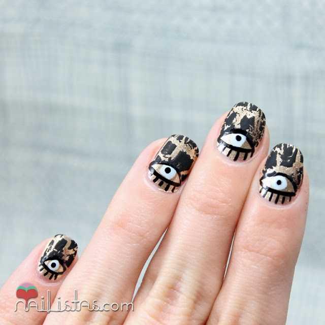 Uñas decoradas con ojos | Nail art
