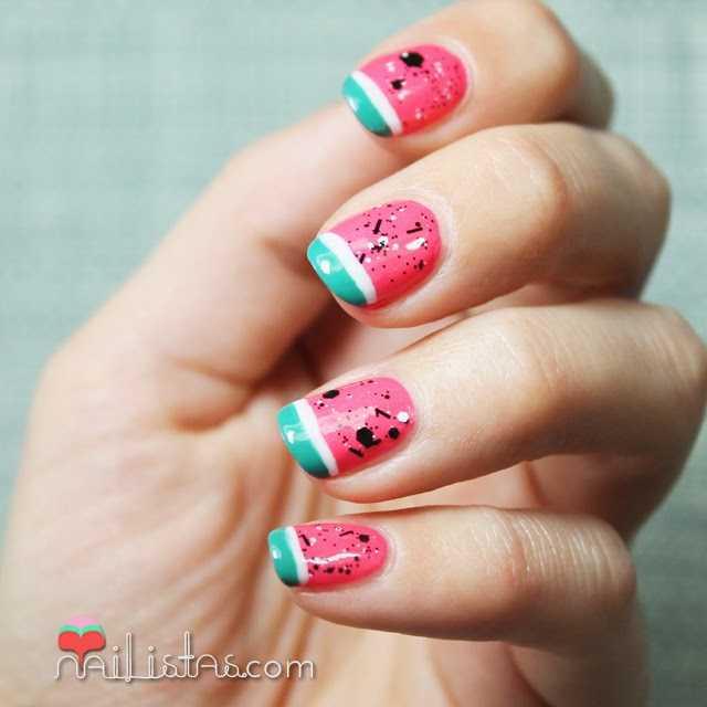 Decoración de uñas fácil | Sandía