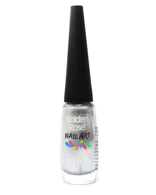 Pincel Nail Art - Plateado-400