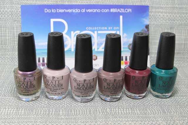 Esmaltes de uñas de la colección Brazil de OPI