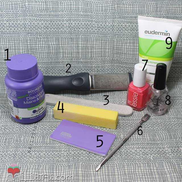 herramientas para una pedicura en casa