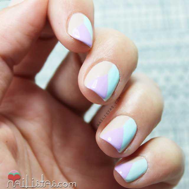 Decoración De Uñas Sencilla Nail Art Geométrico