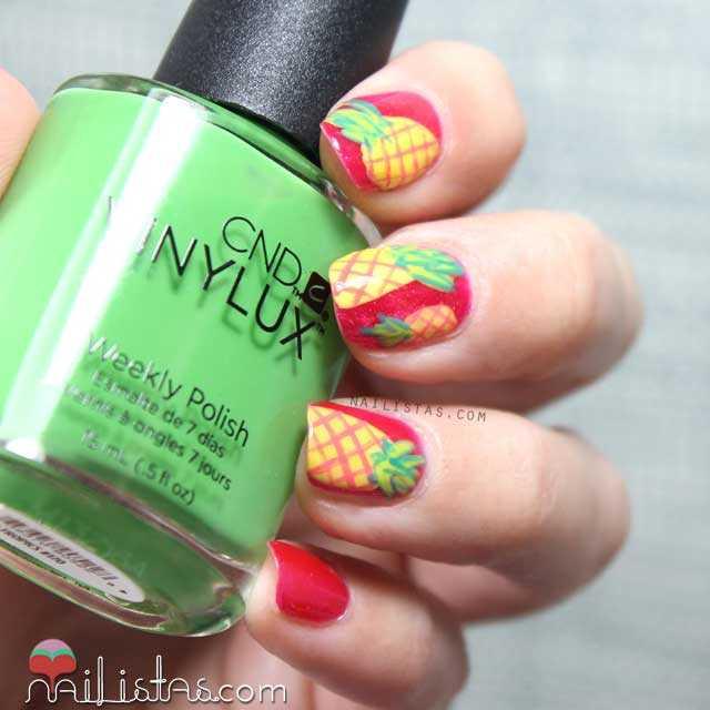 Nail art de piñas tropicales - Nailistas | Uñas decoradas paso a paso