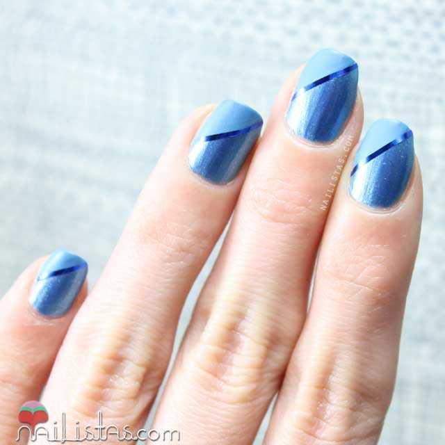 Uñas decoradas con cinta para nail art | Stripping tape decoration