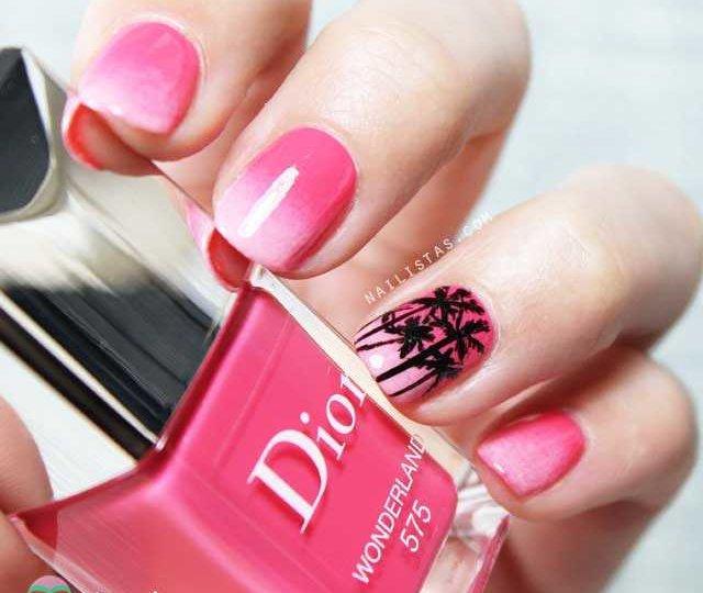 Nail art de palmeras inspiración L.A.