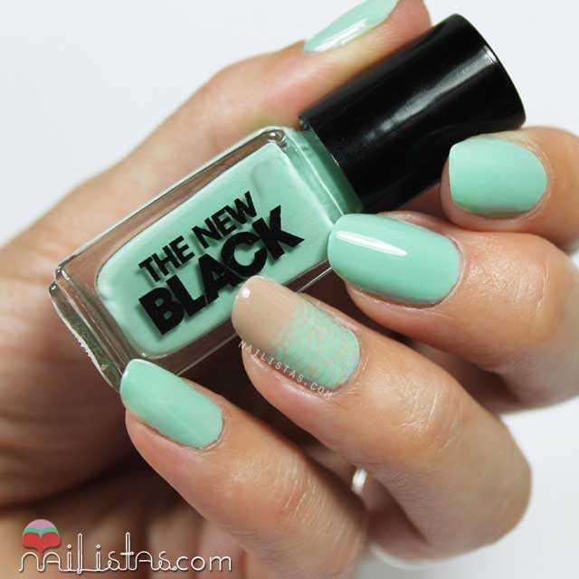 Nail art verde menta con Accent Nail - Nailistas | Uñas decoradas ...