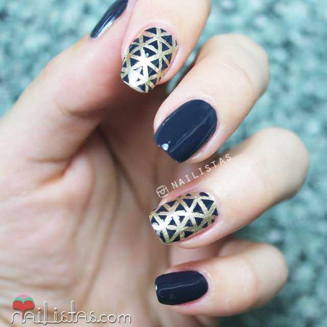 manicura y nail art de fiesta noche