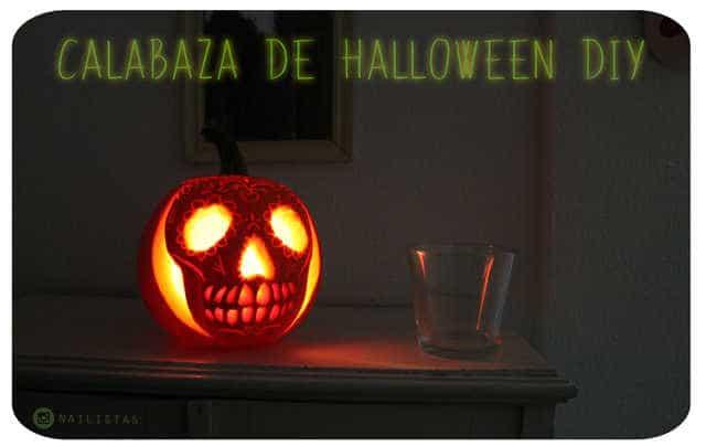 linterna con una calabaza de Halloweem