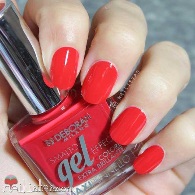 Esmalte de uñas Deborah Milano Gel Effect 25 rojo