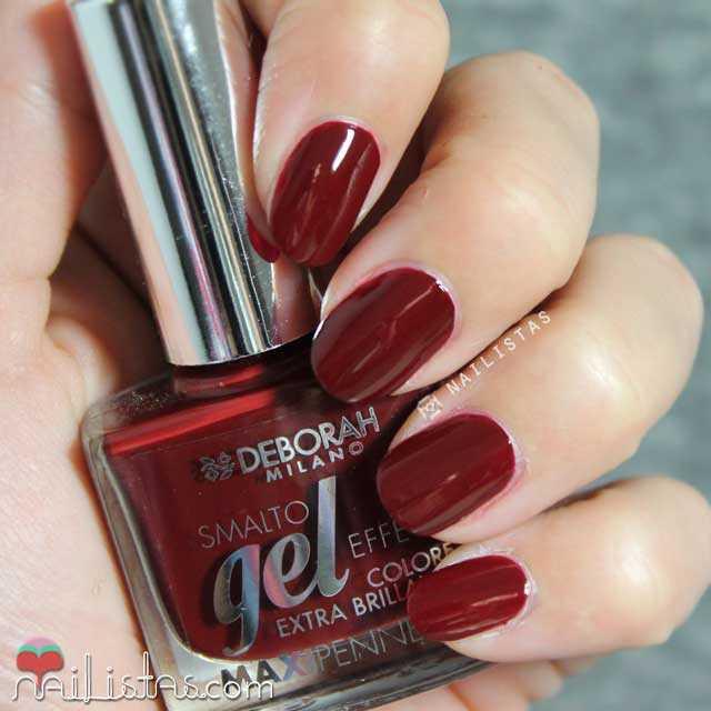 Esmalte de uñas Deborah Milano Gel Effect 27 granate
