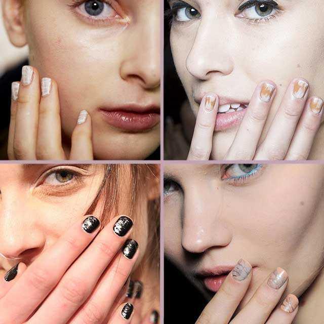 Tendencias uñas nail art otoño invierno 2014 2015 marmoleado