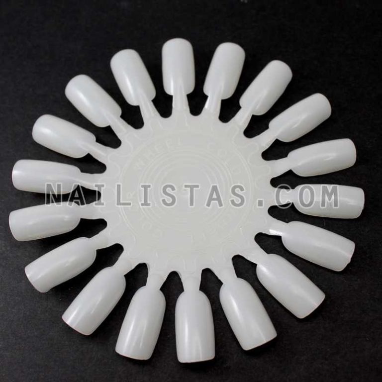 Pack 10 Ruedas muestrario de 18 uñas blanco-778
