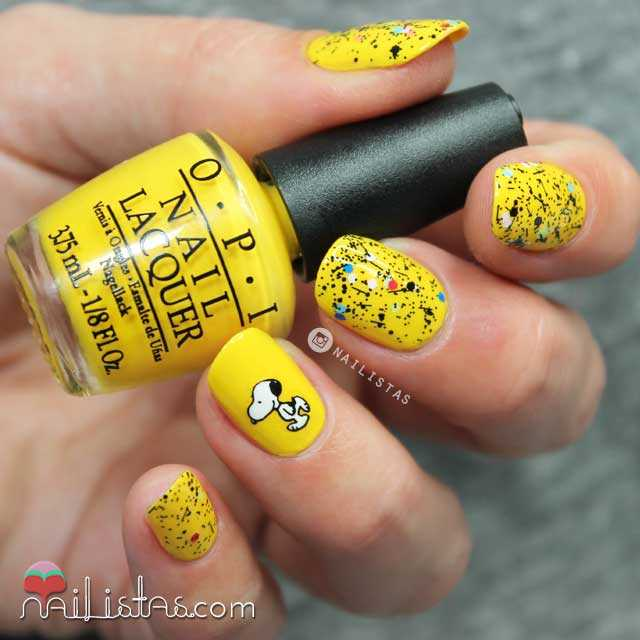 Uñas decoradas de Snoopy