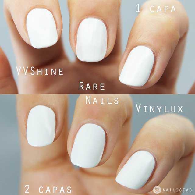 Esmaltes de uñas blanco opaco cubriente