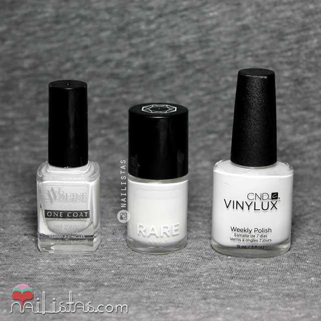 esmaltes de uñas blanco opaco muy cubriente