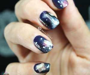 Gatos y galaxias nail art meme