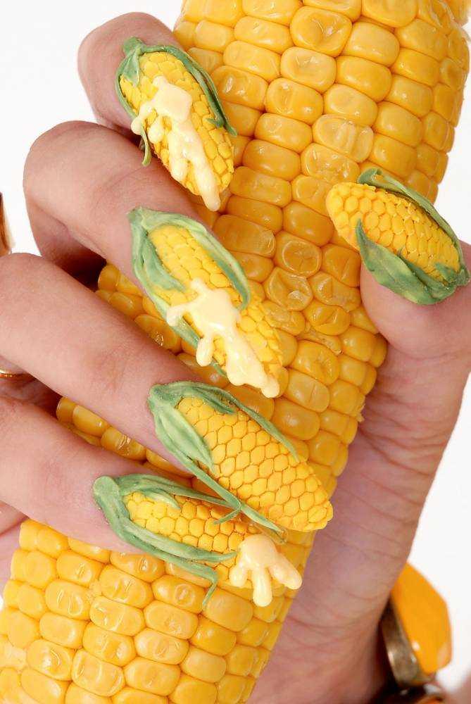 Uñas de mazorca de maíz