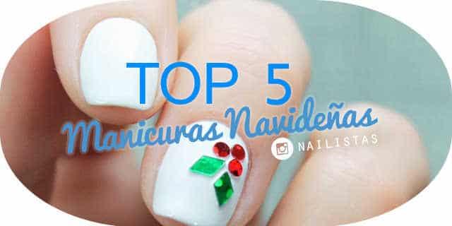 top5 manicuras navideñas