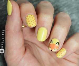 diseños de uñas de animales nail art de zorro